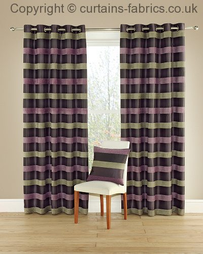Green Curtains aubergine and green curtains : CASINO 13 AUBERGINE-DISCONTINUED-- by MONTGOMERY INTERIORS in 13 ...