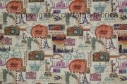 AROUND THE WORLD fabric by ASHLEY WILDE DESIGN