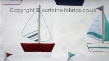 BOATS fabric by BELFIELD FURNISHINGS