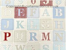 ABC fabric by FRYETTS FABRICS