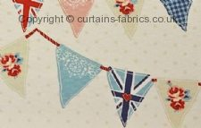 BUNTING fabric by FRYETTS FABRICS