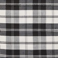 BLACK WHITE ERSKINE  31013 fabric by JAMES HARE