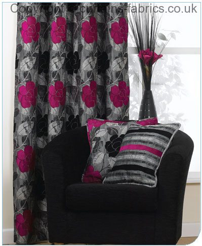 COLLETTE by BILL BEAUMONT TEXTILES in Curtains in Collette Fuchsia ...