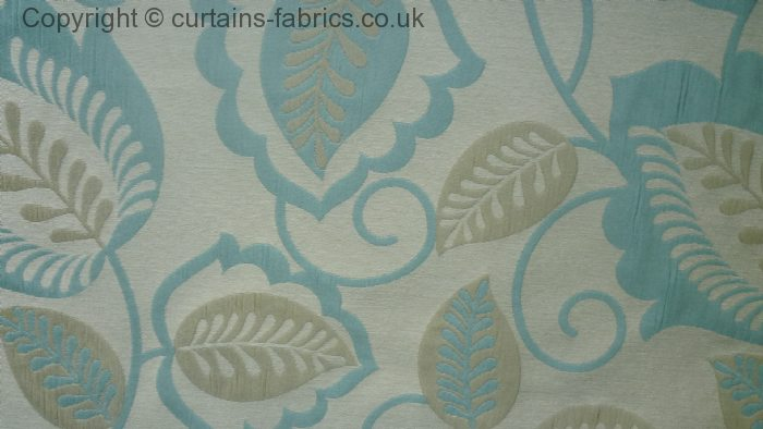 Esme By Bill Beaumont Textiles In Duckegg Curtain Fabric