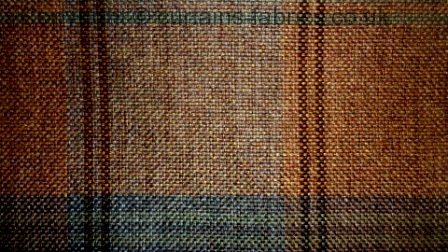 Highland By Bill Beaumont Textiles In Terracotta Curtain