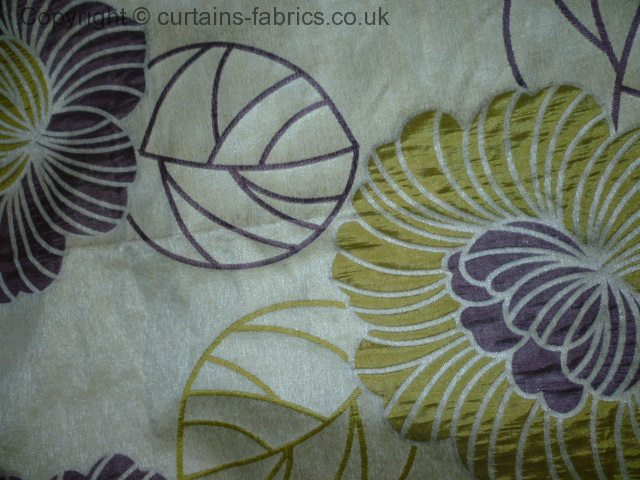 LORELLE by BILL BEAUMONT TEXTILES in Aubergine curtain fabric