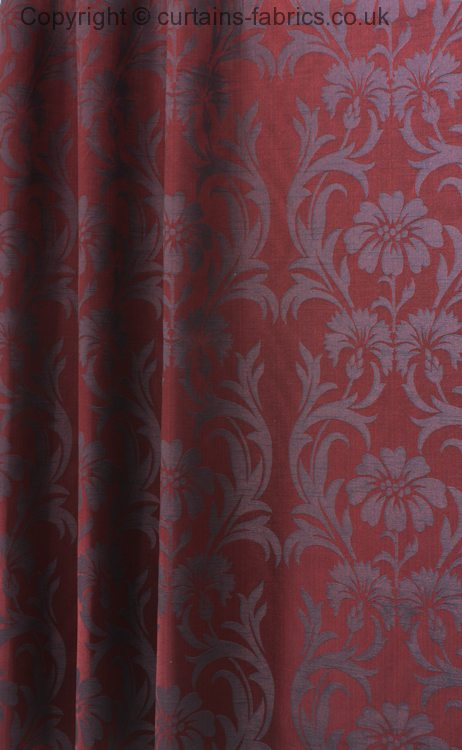 Claudia By Chatham Glyn Fabrics In Bordeaux Curtain Fabric