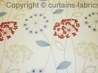 Allium By Chatsworth Fabrics In Red Curtain Fabric