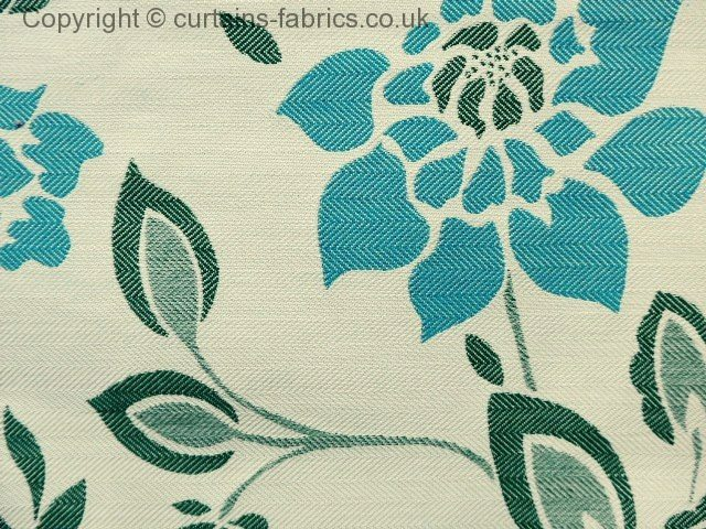 ALORA by CHATSWORTH FABRICS in AQUA curtain fabric