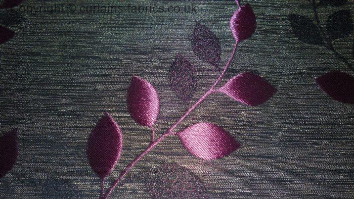 Palma By Fryetts Fabrics In Aubergine Curtain Fabric