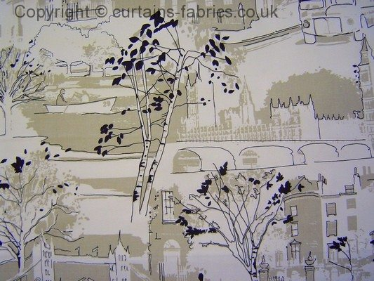 Brompton Road 5994 By Prestigious Textiles In Linen 031