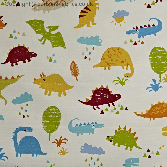 Dino 5715 by prestigious textiles in paintbox 335 curtain for Kids dinosaur fabric