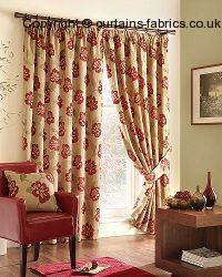 MIMOSA 02 RUBY ----out of stock---- fabric by MONTGOMERY INTERIORS