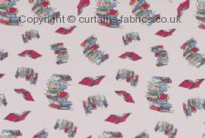 BUNK - DOODLING BOOKS fabric by ASHLEY WILDE DESIGN