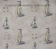 SAILBOATS NEW fabric by CHATSWORTH FABRICS
