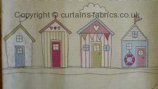 BEACH HUTS made to measure curtains by FRYETTS FABRICS