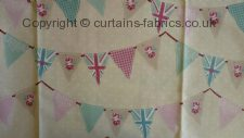 BUNTING made to measure curtains by FRYETTS FABRICS