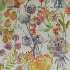 AUTUMN FLORAL made to measure curtains by LORIENT DECOR