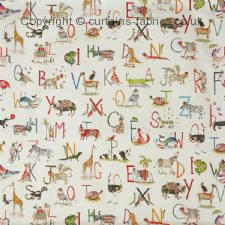 ANIMAL ALPHABET 8628 fabric by PRESTIGIOUS TEXTILES