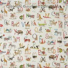 ANIMAL ALPHABET 8628 fabric by PRESTIGIOUS TEXTILES