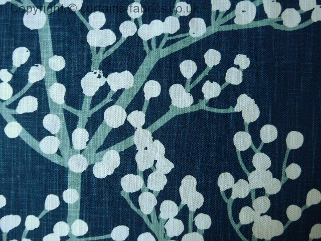 HENNING by ASHLEY WILDE DESIGN in NAVY curtain fabric