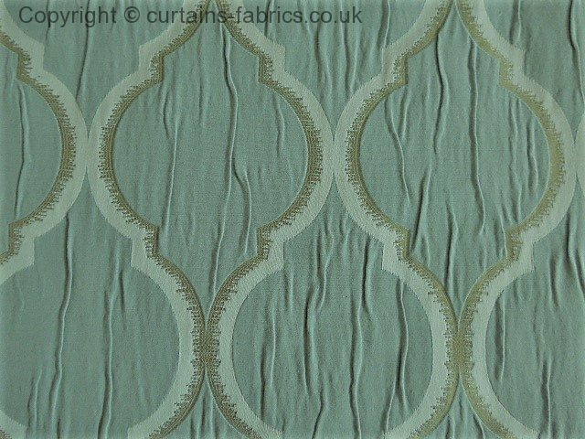 Odell By Ashley Wilde Design In Duckegg Curtain Fabric