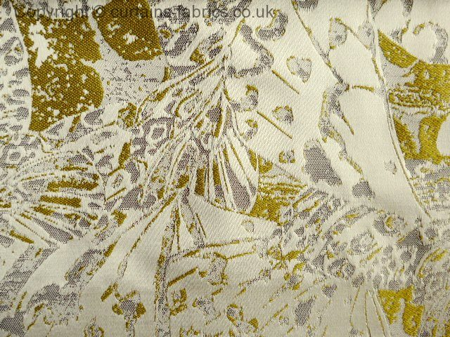 Priestley By Ashley Wilde Design In Gold Curtain Fabric