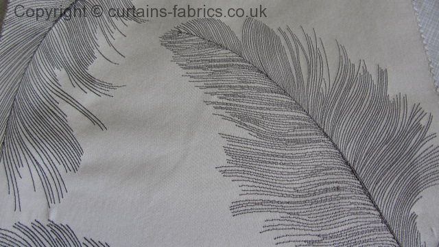 Quill By Ashley Wilde Design In Silver Curtain Fabric