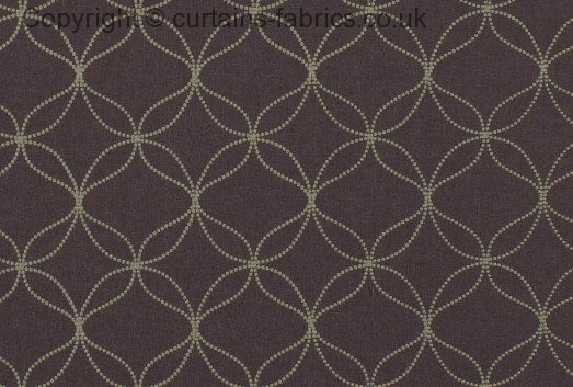 Verve By Ashley Wilde Design In Grape Curtain Fabric