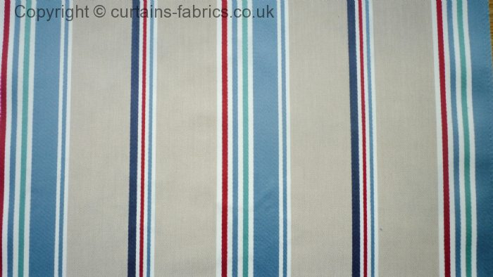 Candy By Belfield Furnishings In Blue Curtain Fabric