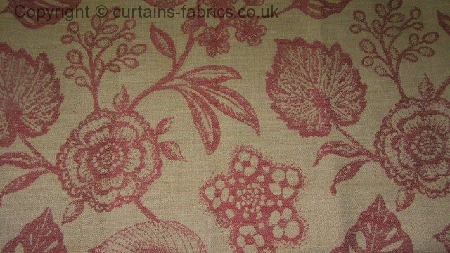 Manon By Belfield Furnishings In Cranberry Curtain Fabric