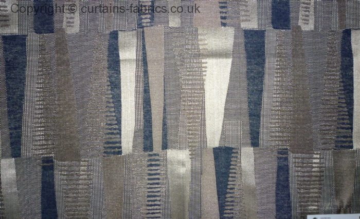 Medina By Belfield Furnishings In Denim Curtain Fabric