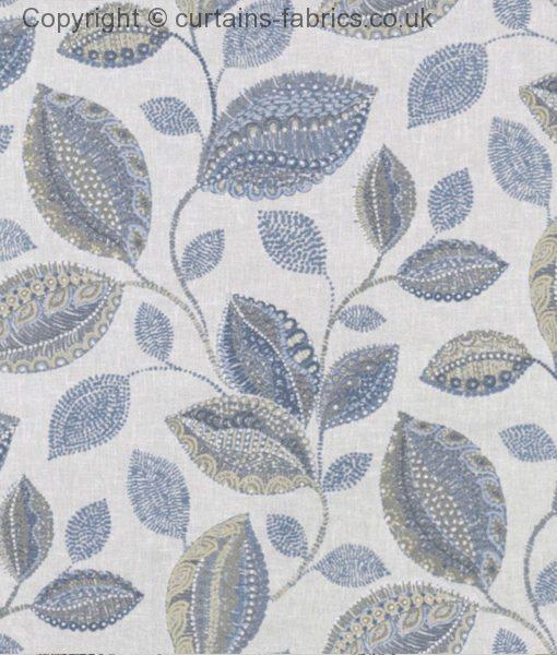 Oakley By Belfield Furnishings In Ocean Curtain Fabric