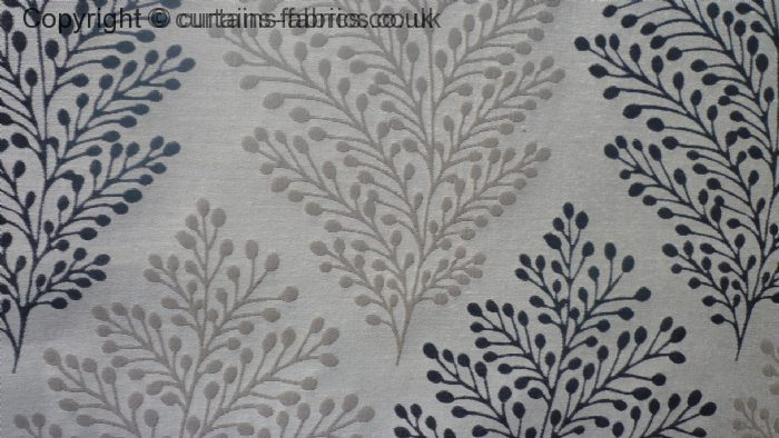 Bracken Leaf By Curtain Express In Charcoal Curtain Fabric