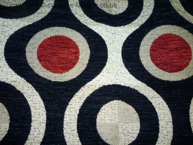 Loft Check Stock By Bill Beaumont Textiles In Black Red