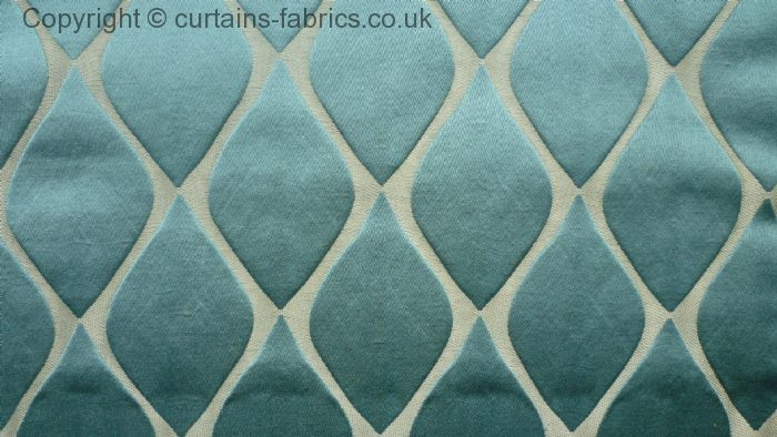 MUSE by BILL BEAUMONT TEXTILES in TEAL curtain fabric