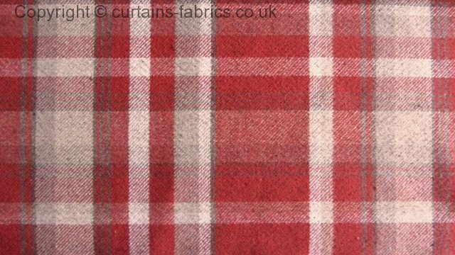 Skye By Chatham Glyn Fabrics In Red 2712 Made To Measure