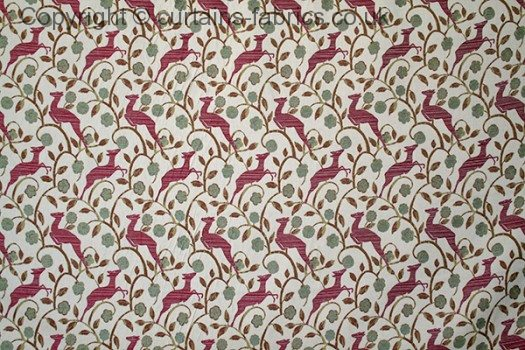 Daino By Chess Designs In Claret Curtain Fabric