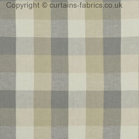 Austin Check F1042 By Clarke And Clarke Globaltex In Natural Made To Measure Curtains