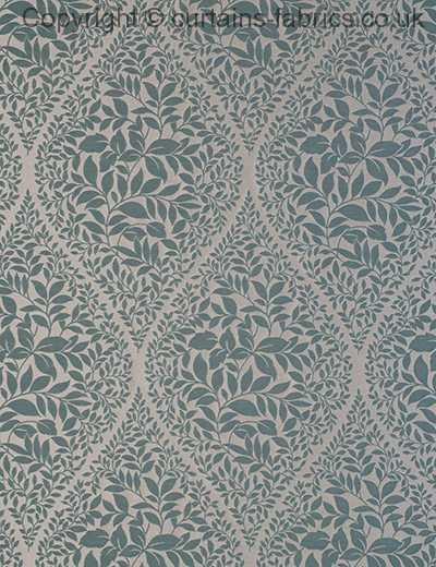CAESAR by CURTAIN EXPRESS in TEAL curtain fabric