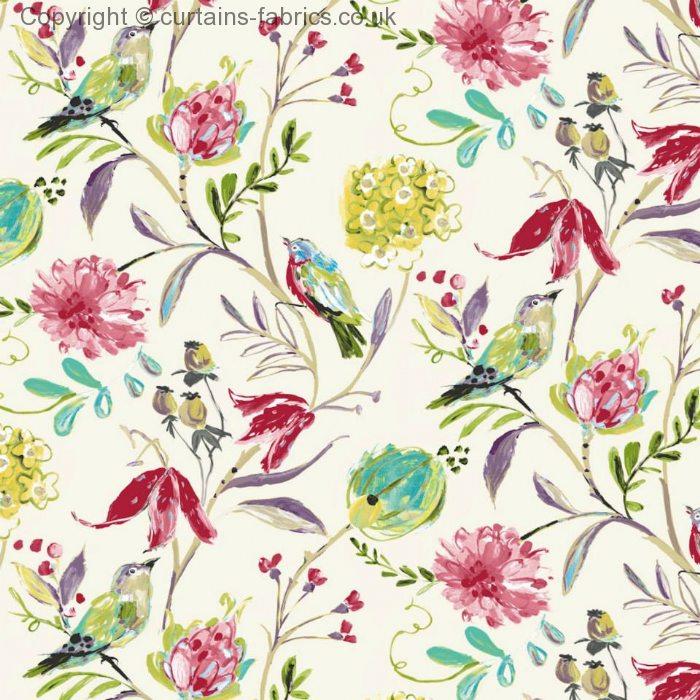 Honolulu By Edinburgh Weavers In Cream Curtain Fabric