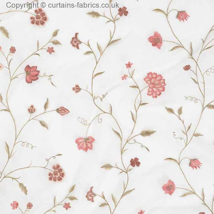 CLIMBING FLORAL* EMBROIDERED ORGANZA 31416 by JAMES HARE in CLOUD ...