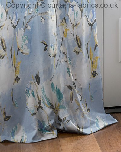 Cassia By Montgomery Interiors In Blue Curtain Fabric