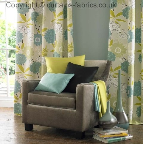 STOWE by PORTER & STONE in A CURTAIN IN TEAL curtain fabric