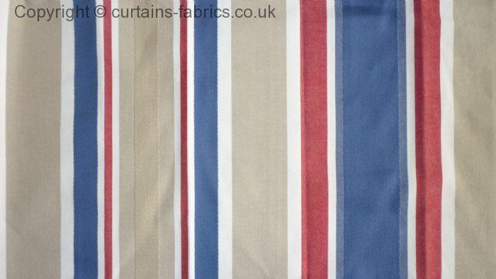 BEACH STRIPE by iLIV INTERIOR TEXTILES in INDIGO curtain fabric