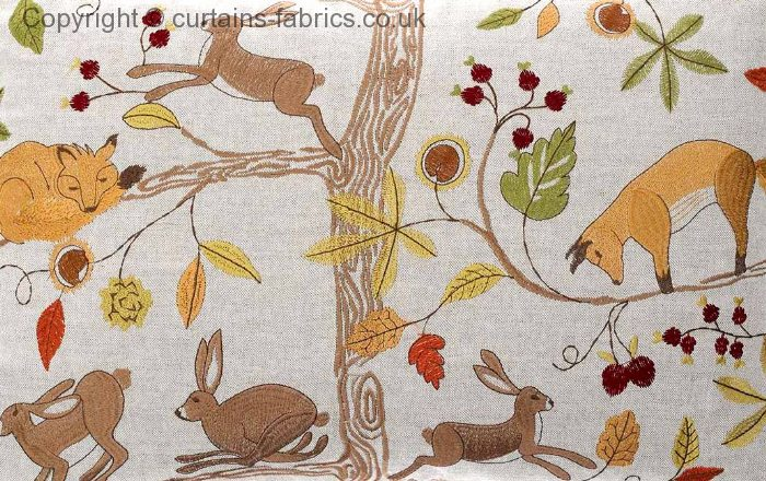 Fox And Hare Linen By Voyage Decoration In Linen Curtain