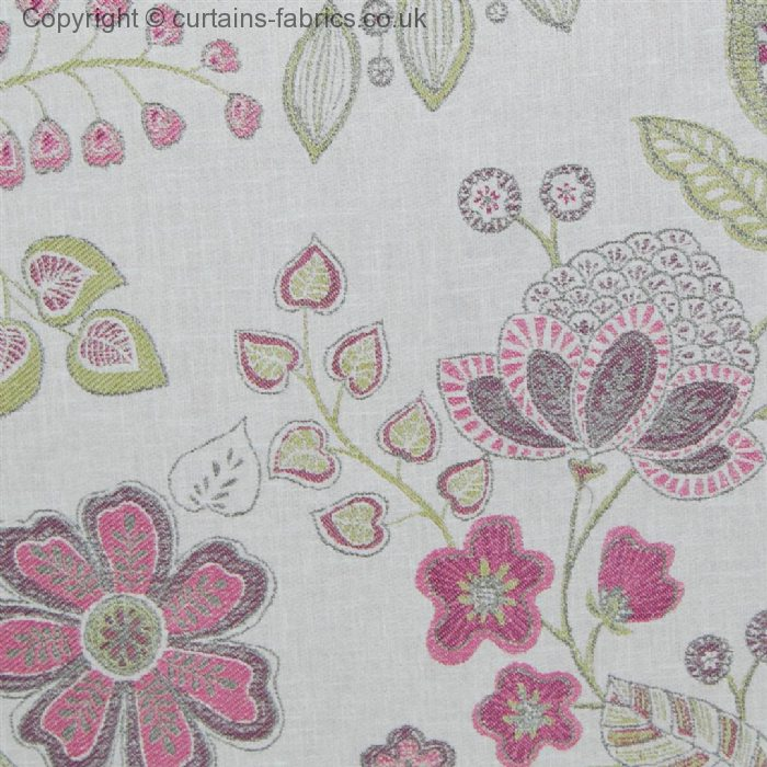 HARTWELL By VOYAGE DECORATION In RASPBERRY Curtain Fabric