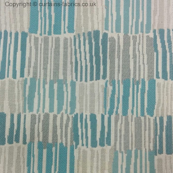 MERAPI by VOYAGE DECORATION in AQUA curtain fabric