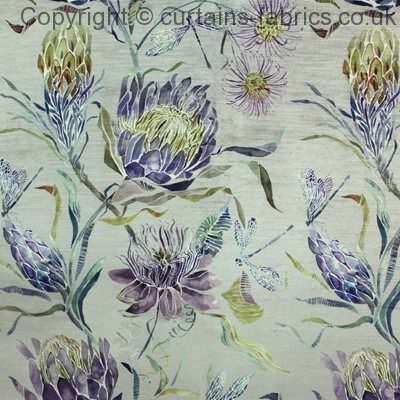 MOOREHAVEN VELVET by VOYAGE DECORATION in PERIWINKLE curtain fabric