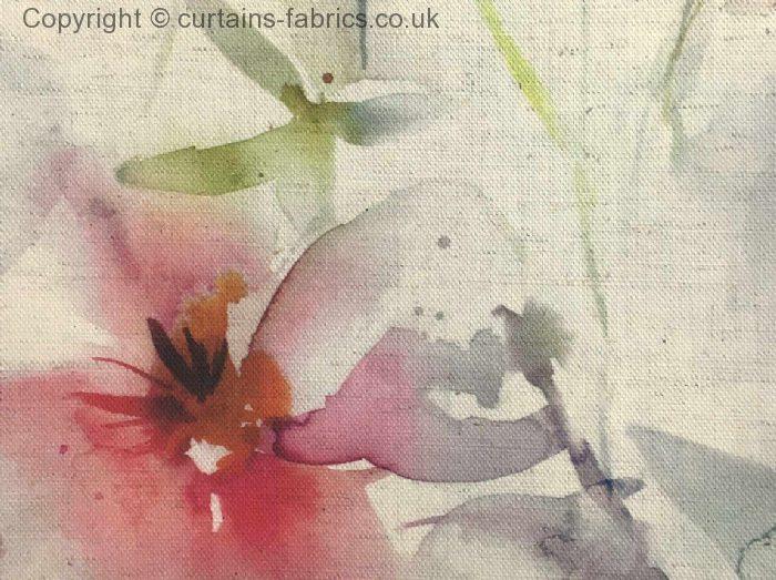 SAMARINDA by VOYAGE DECORATION in POPPY NATURAL curtain fabric